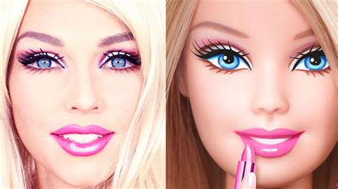 tutorial make up like a doll barbie doll makeup transformation youtube