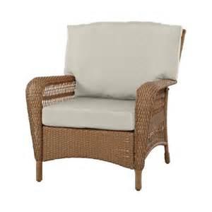 Martha Stewart Living Patio Furniture Cushions Martha Stewart Living Charlottetown All Weather Wicker Patio Lounge Chair With Custom
