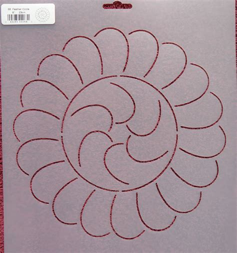 stencil quilting feather circle 9 quot 23cm 68 qc sew