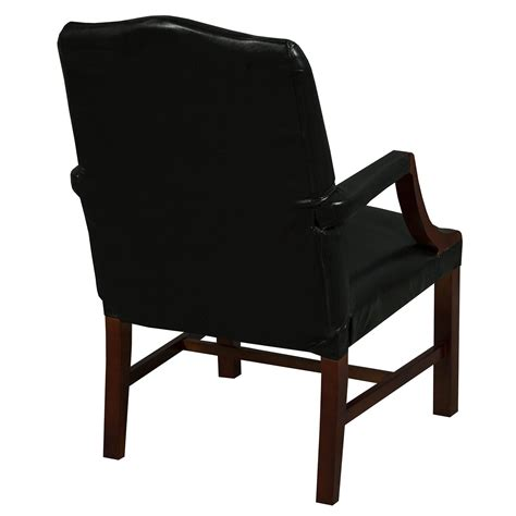 black leather side chair kimball independence suffolk used leather side chair