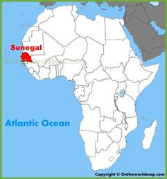 Senegal Africa Map by Senegal Location On The Africa Map
