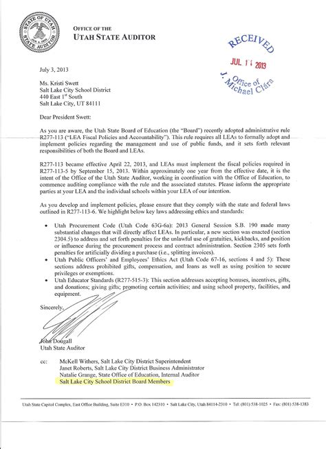 sle complaint letter to school superintendent cover