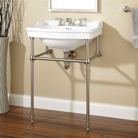 Console Bathroom Sink cierra console sink with brass stand bathroom