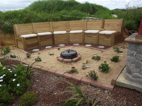 diy pit seating how to build a pit seating with storage diy projects for everyone