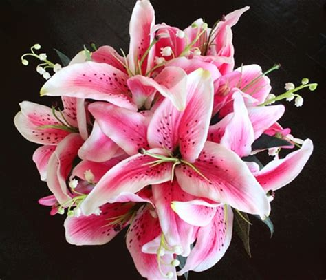 lilies or lillies natural touch stargazer lilies centerpiece made in your