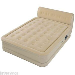 new size air mattress raised bed built in serta headboard ebay