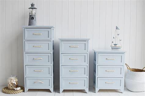 Blue And White Nautical Storage Unit Rope Handles Bathroom Kitchen Toilet Ebay Huntington Bathroom Cabinet 4 Drawers For Nautical Design