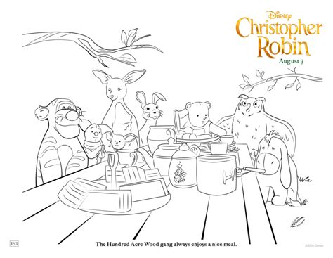 robin coloring pages grab your free printable disney s christopher robin
