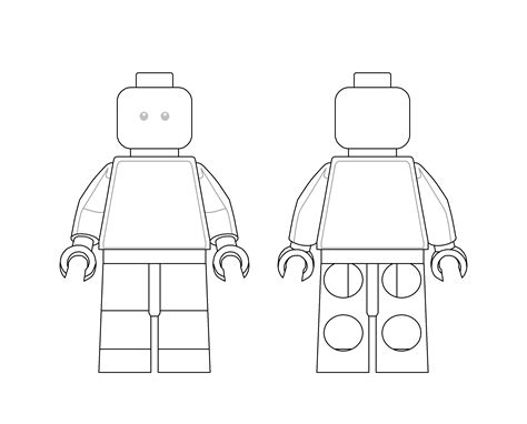 lego figure template lego minifigure template www topsimages