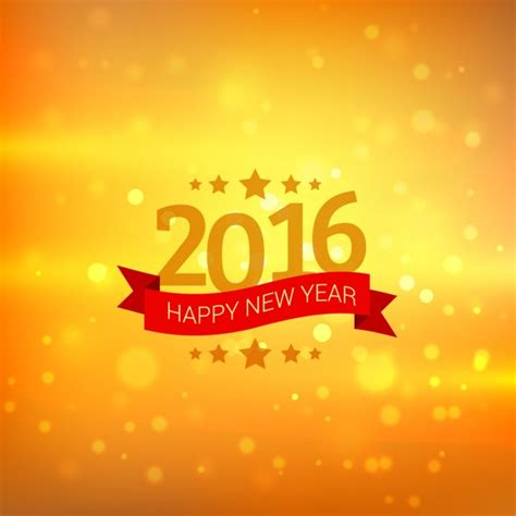 new year background card happy new year card in golden bokeh background vector