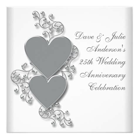 silver wedding anniversary invitations templates wedding invitation wording silver wedding anniversary
