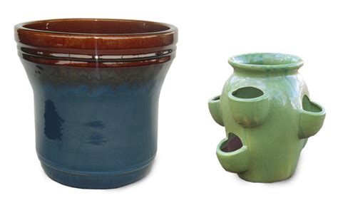 Clay Strawberry Planter Herb Planters Willard And May Outdoor Living