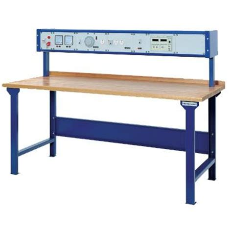 electrical test bench workbench with laminated top drawer cabinet and