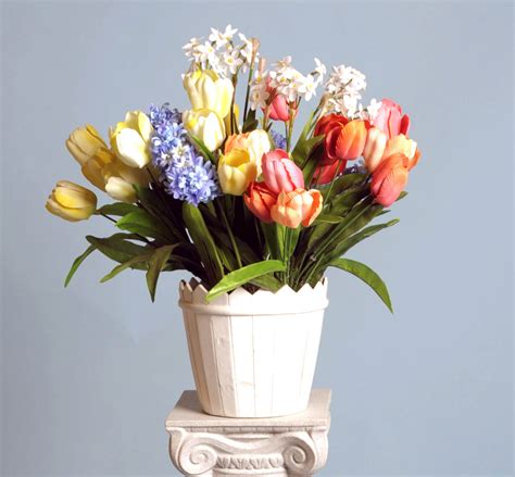 spring flower arrangements silk spring flower arrangements www pixshark com