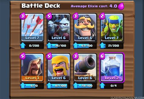 arena deck i pushed to 1900 trophies at level 6 with this deck page 3
