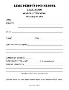 event vendor application template best photos of sle vendor form vendor information