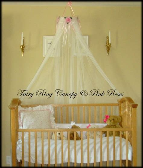 Crown Crib Canopy by Baby Bed Crib Canopy Crown White Sheers Included Sale Princess