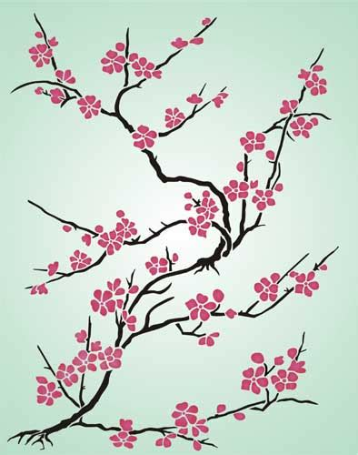 6 Best Images Of Printable Cherry Blossom Pattern Cherry Cherry Blossoms Designs