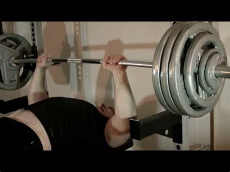 bench 5x5 week 3 doug hepburn bench press routine 380lbs 5 singles