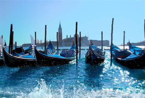 gondola boat porto gondola boats in venice harbor stock photo image 9134140