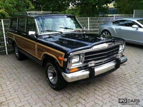 jeep pickup 90s 1990 jeep 5 9 l grand wagoneer bj 90 4x4 car photo and