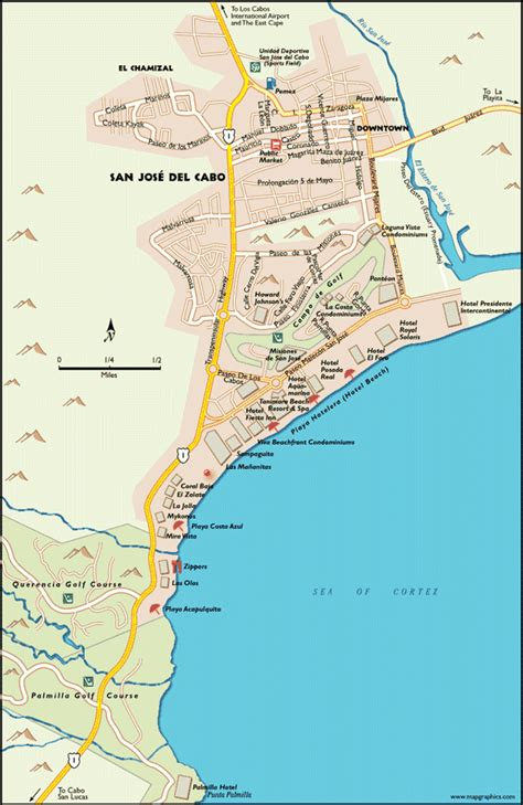 san jose cabo estuary map san jose cabo map