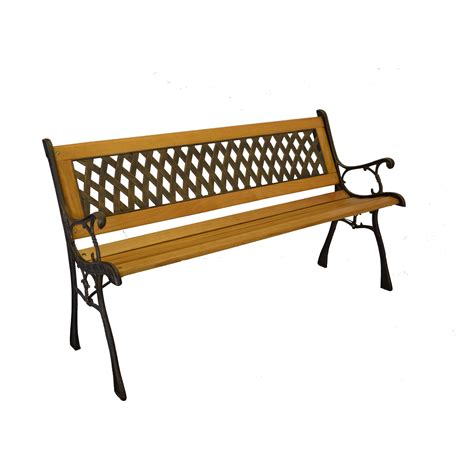 iron benches piersurplus iron and wooden park bench wayfair
