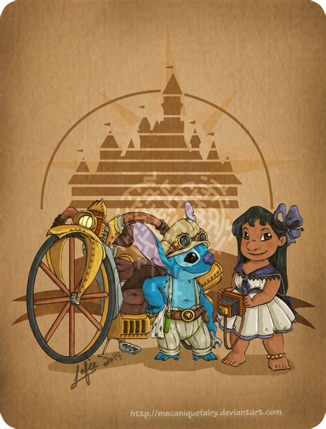 steampunk disney character posters pop culture monster