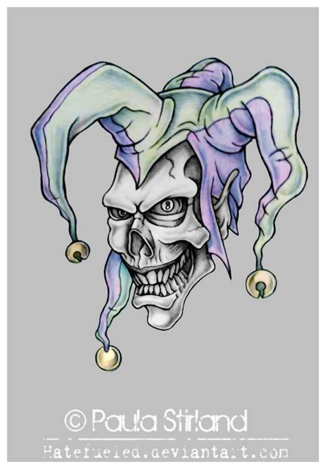 wicked clown tattoo designs syella knowing evil jester designs