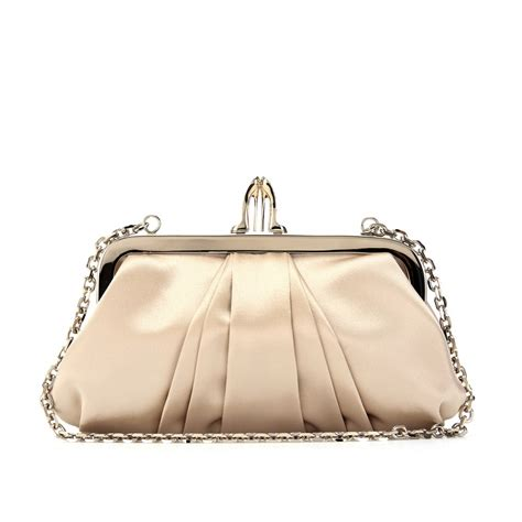Christian Louboutin Satin Clutch by Christian Louboutin Mini Loubi Lula Satin Croissant Clutch
