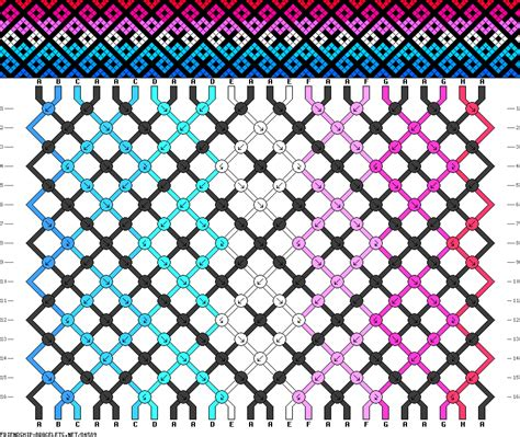net pattern matching string 84589 friendship bracelets net