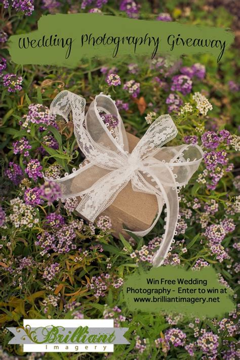 Wedding Sweepstakes Giveaways - free wedding photography giveaway from brilliant imagery wedding day giveaways