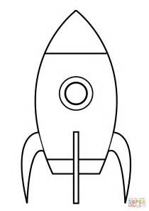 dibujo de cohete sencillo para colorear dibujos para