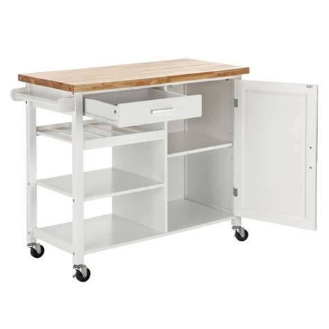 kitchen storage island cart homegear deluxe kitchen storage cart island w rubberwood