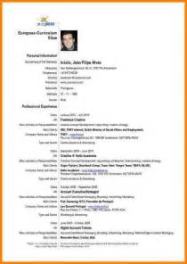 Curriculum Vitae In English by 3 Cv English Example Pdf Cashier Resumes