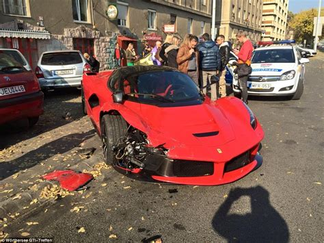 laferrari crash driver crashes 1 5 million dollar laferrari car break com