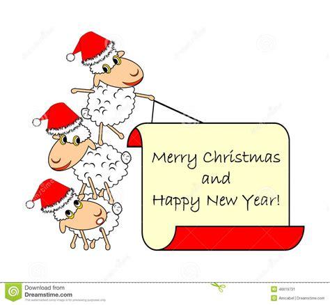 new year sheep phrases sheep stock vector image 46619731