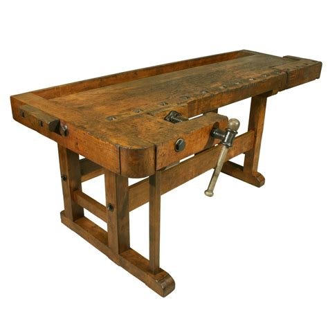 old wooden work bench antique woodworking workbench at 1stdibs