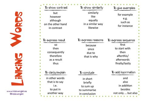 word for linking words we