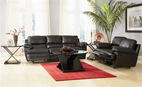 black bonded leather casual motion sofa set living room black bonded leather casual reclining living room sofa w
