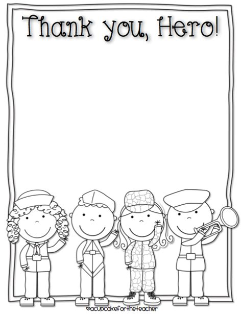 Thank You Letter For Kindergarten Free Veterans Day Writing Printables Free Printables