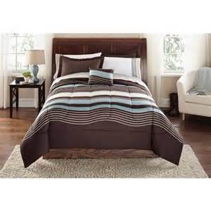 Walmart King Size Bed In A Bag Mainstays Urban Stripe Bed In A Bag Coordinated Bedding Set