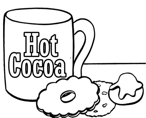 chocolate hot cocoa coloring page sketch coloring page
