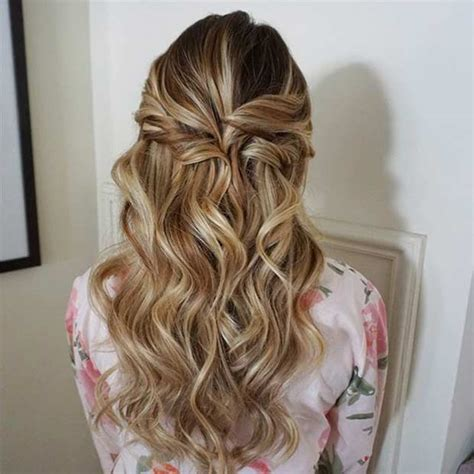 homecoming hairstyles half up half down curly 31 half up half down prom hairstyles curly prom and