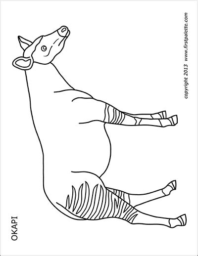 giraffe  printable templates coloring pages firstpalettecom