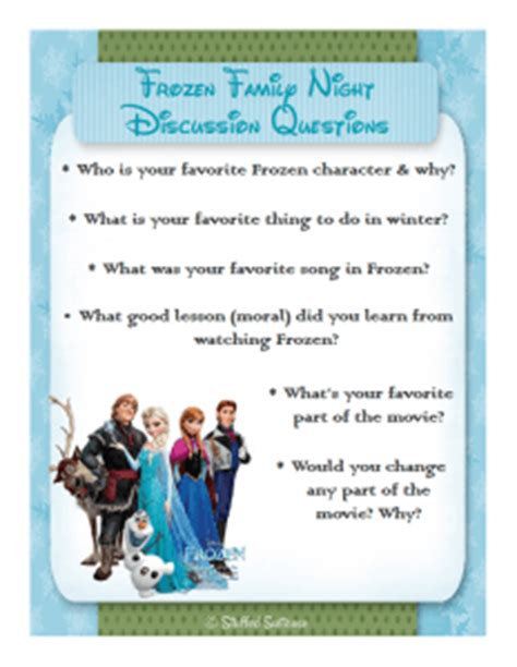 frozen film quiz frozen party family dinner movie night printables
