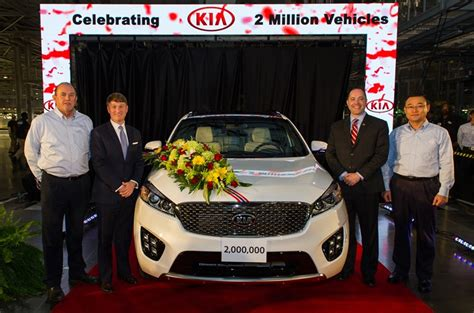 kia motors manufacturing kia motors manufacturing produces 2 millionth vehicle in