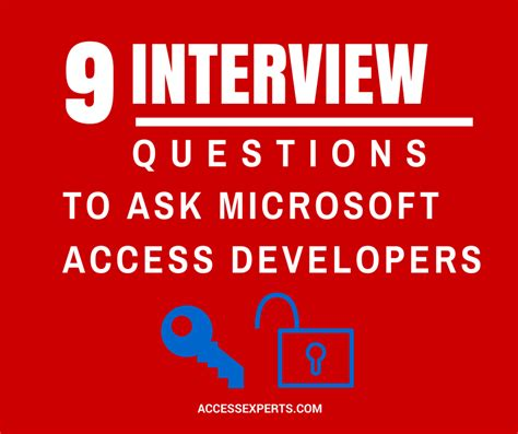 9 interview questions to ask microsoft access developers