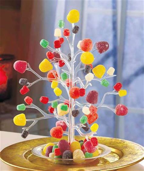 vintage clear plastic gumdrop candy tidbit ornament tree