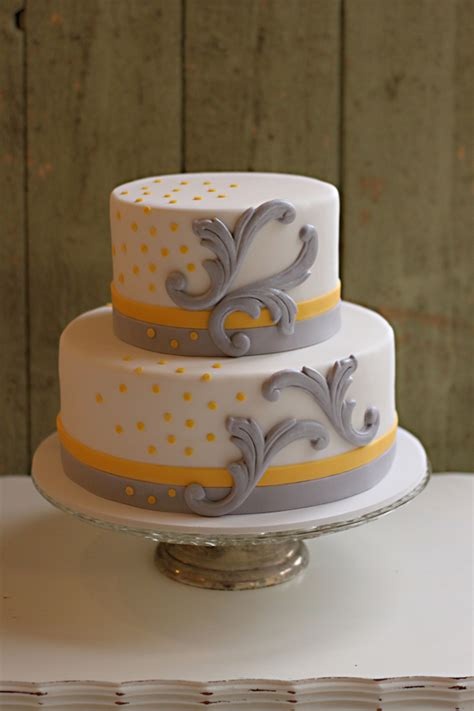 Yellow And Grey Baby Shower Cake by Chic Yellow And Grey Baby Shower Cake The Couture Cakery